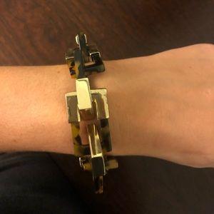 Baublebar gold/tortuise shell print bracelet